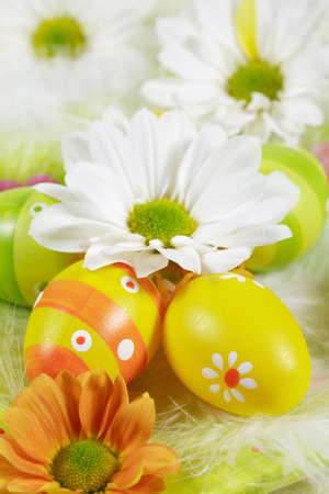 Easter detail with Easter eggs or spring motive Stock Photo - 2248368