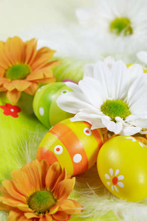 Easter detail with Easter eggs or spring motive Stock Photo - 2312642