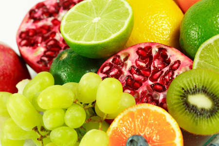 Fresh fruits with lot of vitamins photo
