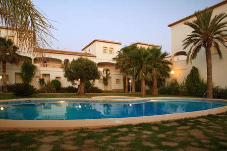Spanish villas with swimming pool photo