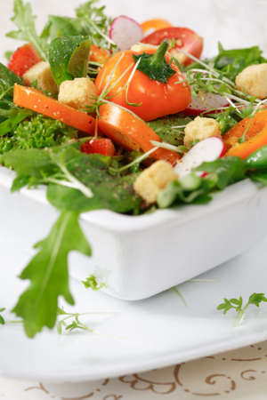 Delicious diet salad with lot of vitamins photo