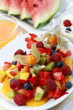 afters: Summer refreshment - fruit salad