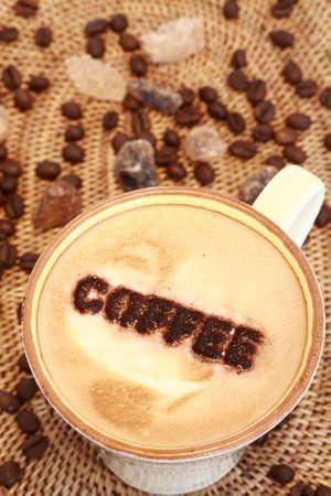 Delicious coffee with milk Stock Photo