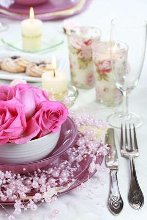 festive occasions: Mesa festiva para boda u otro evento  Foto de archivo
