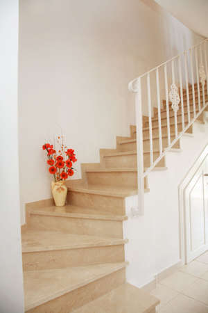upstairs: Home interior - stairs