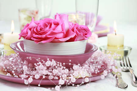 served: Festive table setting