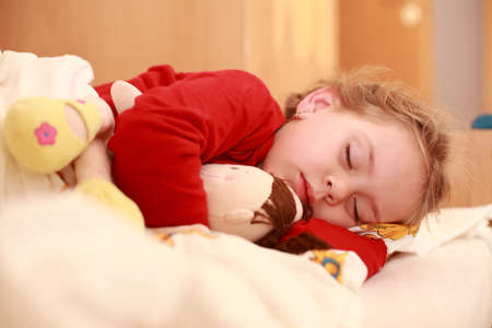 baby angel: Sleeping child Stock Photo