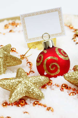 Christmas wishes with label for your text photo