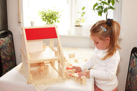 role play: Playing with dolls house