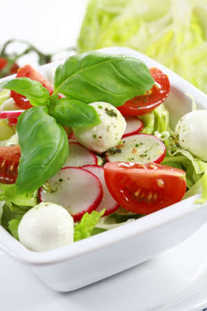 Vegetable salad with low calorie - healthy eating photo