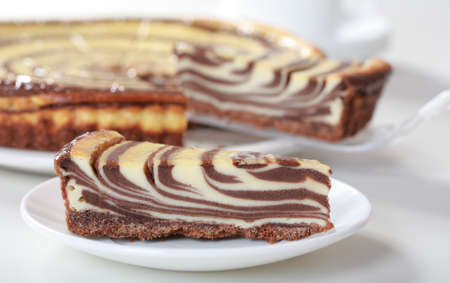 afters: Delicious cheese cake with chocolate