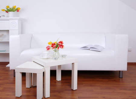 table and chairs: Living room Stock Photo