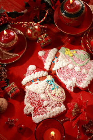 Detail of Gingerbread Santa Claus for Christmas photo
