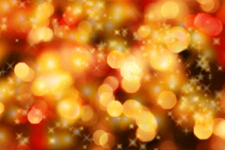 Abstract background of candlelights with stars for Christmas photo