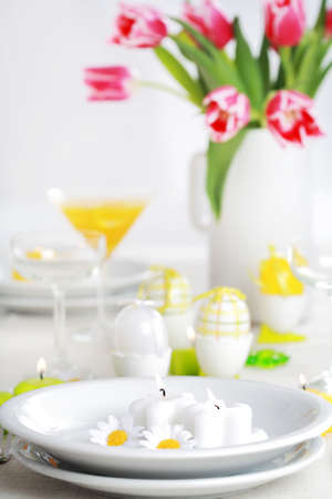 seeting: Place seeting for Easter in fresh colors Stock Photo