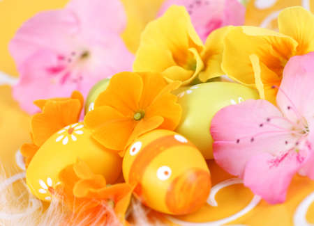 celebrated: Easter detail with Easter eggs or spring motive