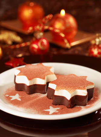 Christmas ice cream with chocolate and cinnamon  Stock Photo - 7485625
