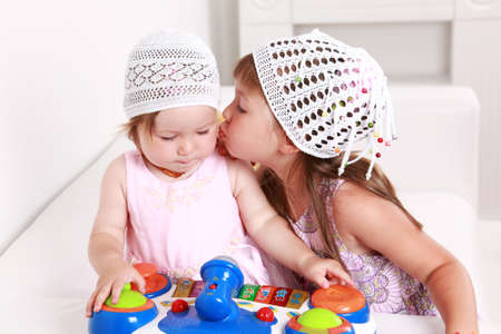 Adorable kids playing playing together Stock Photo - 7485622