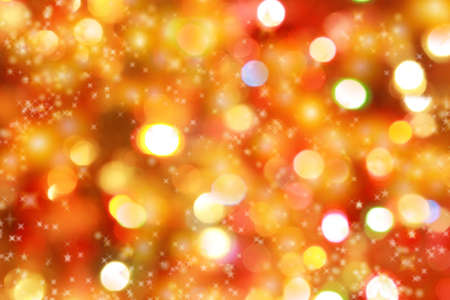 shimmer: Abstract background of candlelights with stars for Christmas Stock Photo