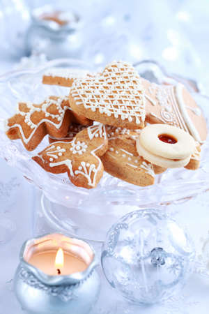 Still life with delicious Christmas gingerbread and cookies Stock Photo - 7929526