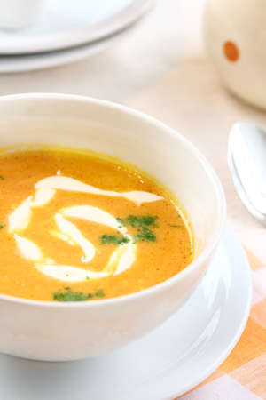 potage: Carrot soup with sour cream