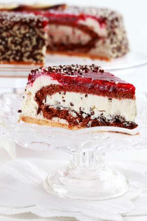 stracciatella: Delicious stracciatella birthday cake  Stock Photo