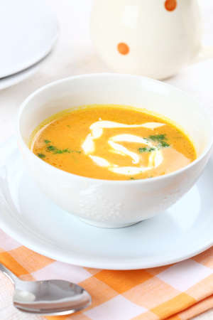 sour cream: Carrot soup with sour cream