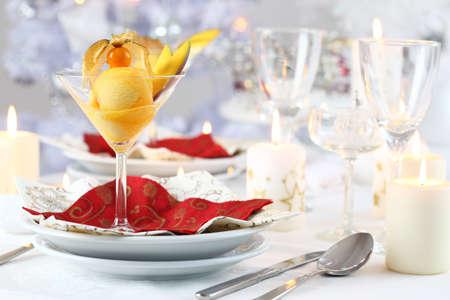 sorbet: Sorbete de mango y pi�a o helado para Navidad