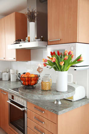 Kitchen and dining room inter in family house  Stock Photo - 8672591