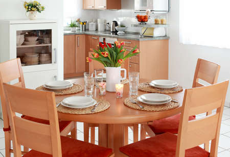 Kitchen and dining room interior in family house Stock Photo - 8672627