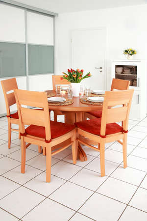Kitchen and dining room inter in family house  Stock Photo - 8672626