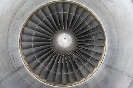 Detail of jet engine of airplane photo