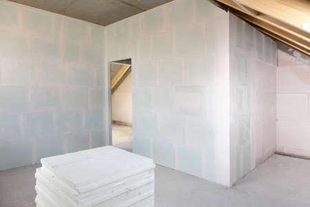 Refurbishment - empty room under construction