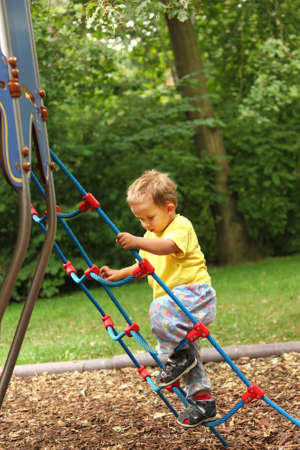 Photo of kid playing at playground  Stock Photo - 9044991