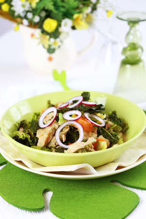 savoy cabbage: Savoy cabbage stew with carrot