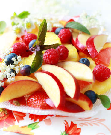 ensalada de frutas: Variaci�n de frutas frescas como postre