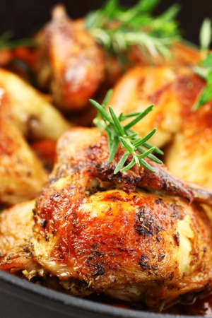 Tasty roasted chicken with vegetable and herbs Stock Photo - 9655637