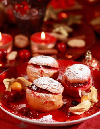 opvulmateriaal: Heerlijke gebakken appel met cranberry vulling voor Kerst mis