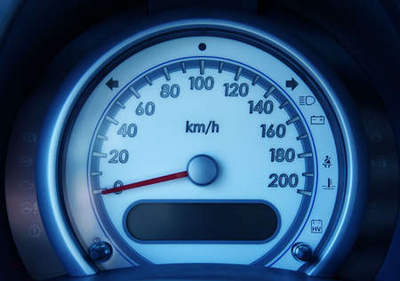 Detail of tachometer in the car photo
