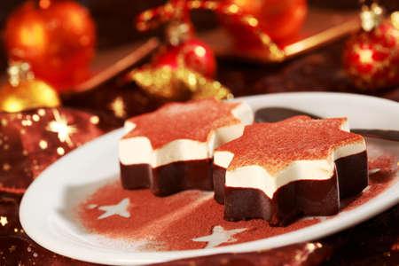 sweetmeats: Dessert as Christmas star for Christmas