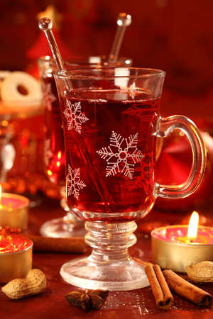 Hot wine punch for Christmas  photo
