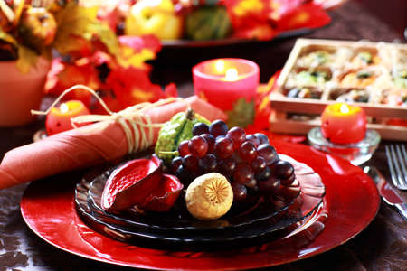 thanksgiving: Luxury place setting for Thanksgiving