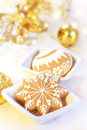 Delicious Christmas  gingerbread and cookies photo