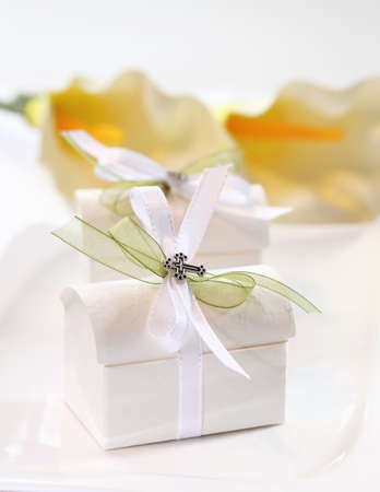 Small present for guests by first holy communion Stock Photo - 12009088