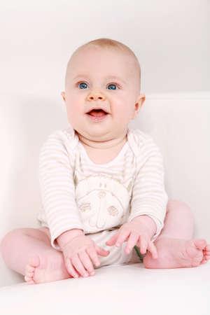felicity: Portrait of cute newborn laughing
