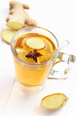Refreshing Ginger ale lemonade with anise  Stock Photo