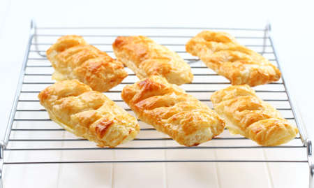 Delicious apple turnovers on tray photo