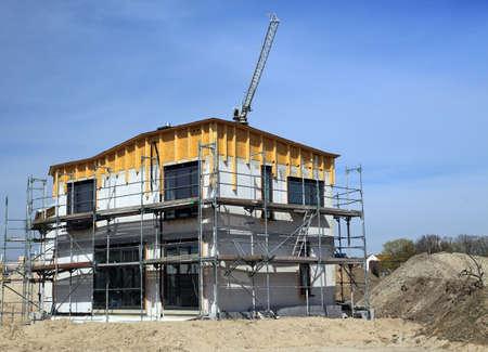 rural development: New family house under construction