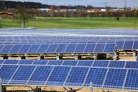 recourse: Field of solar panels for power production