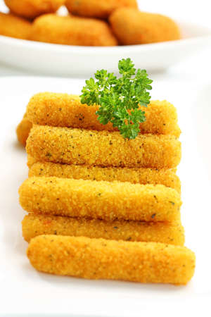 Delicious fried mozzarella cheese sticks